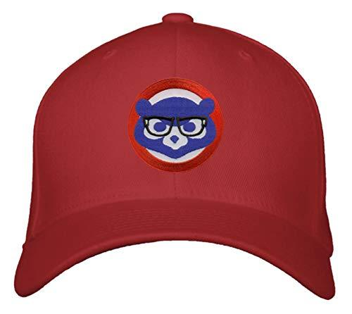 Cubs Red Baseball Cap Chicago Cubbie with Joe Maddon Harry Caray Novelty Glasses