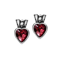 Alchemy Gothic E379  Claddagh Heart Ear studs Earrings - $24.72