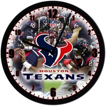 "Houston Texans Homemade 8"" NFL Wall Clock w/ Battery Included - $23.97"