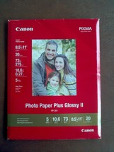 Canon Photo Paper Plus Glossy II, 8.5 x 11 Inches, 20 Sheets (PP-201) - $7.92