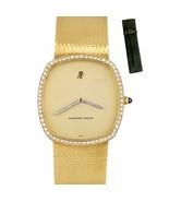Vintage Audemars Piguet 18K Yellow Gold 31mm Factory Diamond Mechanical ... - $6,493.46