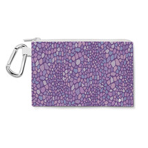 Purple Monster Skin Canvas Zip Pouch - $15.99+