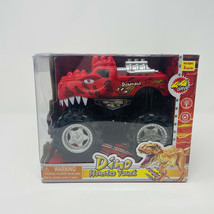 Dino Monster Truck Red Noise Making Kids Truck 4x4 Ages 3+ - $13.36
