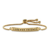 "Forever Friends 14k Gold-Plated Plaque Drawstring Slider Bracelet 10"" - $17.49"