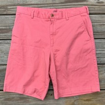 IZOD Saltwater Shorts Stretch Boating Casual Flat Front Mens Pink Coral ... - $23.75