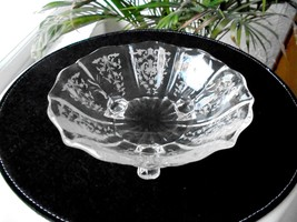 "Fostoria Navarre Pattern Clear 7"" Wide Bowl  c1936-1982 - $24.99"