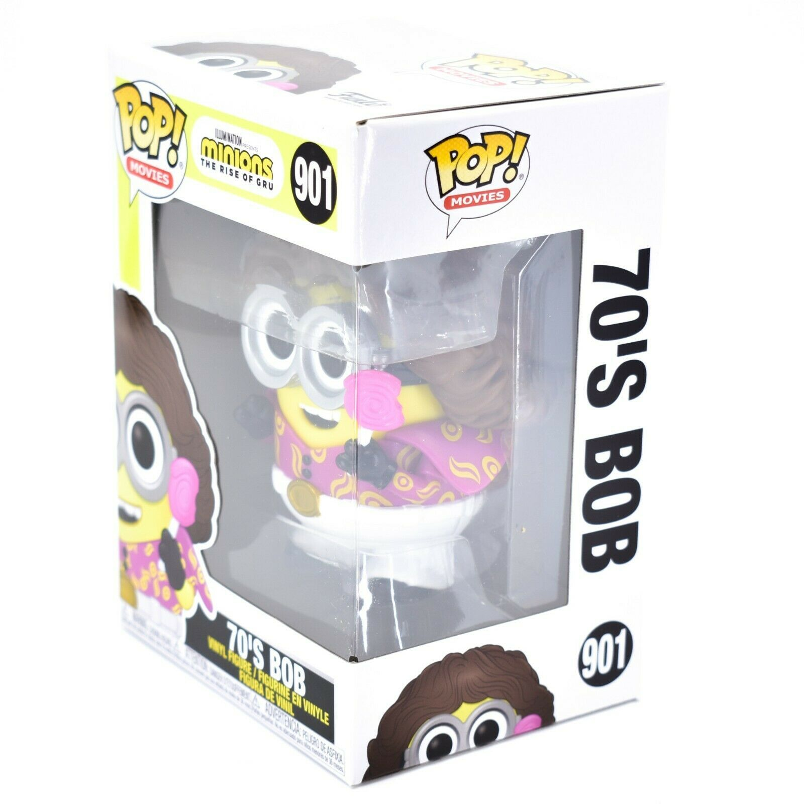 Funko Pop! Movies Minions The Rise of Gru Disco 70's Bob #901 Vinyl Figure