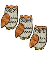 """Mini Owl Applique Patch - Hoot Owl, Animal Badge 1"""" (3-Pack, Iron on) - $3.50"""