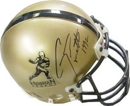 Gino Torretta signed Gold Heisman Authentic Mini Helmet 1992 (Miami Hurr... - $52.95