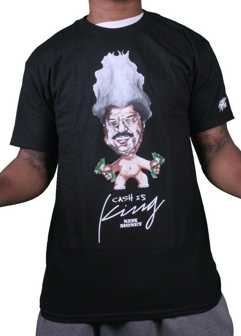 Rocksmith New York Noir Hommes Neuf Argent Espèces Est King Troll T-Shirt Nwt