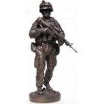 "USMC Marine Rifleman Operation Enduring Freedom 12"" Cold Cast Bronze Sta... - $148.49"
