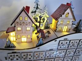 Martha Stewart Led Lighted Christmas Village Counting Advent Calendar Die-Cut - $74.24