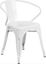 Outdoor Dining Chair Patio Garden Yard Bench Bistro Pool Furniture Metal... - $24.75