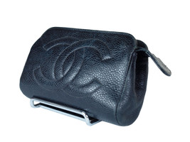 Authentic CHANEL Caviar Skin Leather Black Mini Pouch Bag CP1081 - $189.00