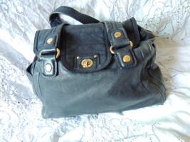 Marc Jacobs Blue Leather Handbag Shoulder Purse Gold Toned Hardware - ₨7,015.31 INR