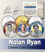 Baseball Legend  NOLAN RYAN US Statehood Quarter Colorized 3-Coin Set *L... - $9.85
