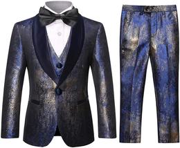 Boys Tuxedo Suit Fashion Dress 3 Pieces Blazer Vest Pants 4 Colors Wedin... - $115.88