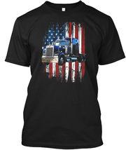 Casual Trucker American Flag Truck Driver Hanes Hanes Tagless Tee T-Shirt - £17.45 GBP