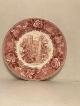 "Wedgwood Red 10 1/2 "" Dinner Plate Bloomington Indiana University Memorial Hall - $34.76"