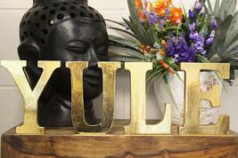 Christmas Golden Glittery Style Wooden Letters YULE - $19.99