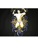 BATISTA THE ANIMAL BLACK T SHIRT WWE OFFICIAL SHIRT One Size Mint - $14.24