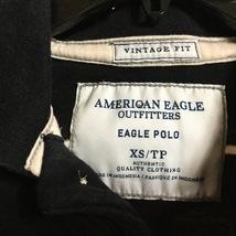American Eagle Mens Blue White Stripe Polo Top - $9.00