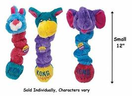 KONG Squiggles Dog Toys Colorful Plush Stretchy Squeakers Characters Var... - $17.74 CAD