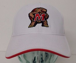 promo code 3f324 bdd2f Adidas University of Maryland White Color One Size Curved Hat -  12.64