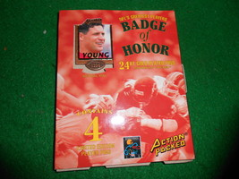 ACTION PACKED...NFL's Greatest Players-4 Pins YOUNG-KELLY-HOSTITLER-CUNN... - $14.44