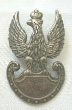 Rare Copper plated silver Original Polish Army 1919 The Eagle Crown Badge - $544.50