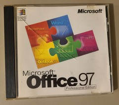 Vintage 1996 Microsoft Office 97 Professional Edition CD with CD Key - $12.99