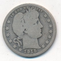 1915-S BARBER SILVER QUARTER-SEMI KEY DATE-NICE CIRCULATED COIN-SHIPS FREE! - $18.95
