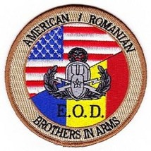 US Army EOD Explosive Ordinance Disposal Unit American Romanian Patch  - $11.87