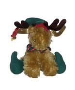 "World Market Christmas Elf Moose Reindeer Musical Plush Lovey 6"" Stuffed... - $22.74"
