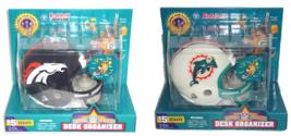 Helmet Desk Organizer Riddell NFL Football Office Supplies Dolphins Broncos - $59.95