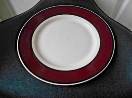 Thomson pottery Avalon Red Wine Colored Dinner Plate  - $18.49