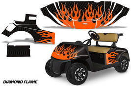 Golf Cart Graphics Kit Decal Sticker Wrap For EZ-Go TXT 2014-2018 DFLAME... - $299.95