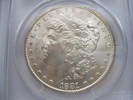 1881-S , Morgan Silver Dollar , PCGS , MS 64 - $100.00