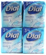 4 Packs of Dial Spring Water Antibacterial Deodorant Bar Soap 3 Bars Per... - $27.99