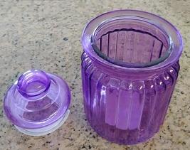 CANDY JAR Purple Glass Sugar Pot Kitchen Canister image 3