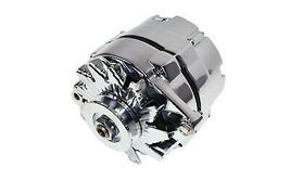 SBC BBC GM CHEVY Chrome 110 Amp Alternator with 1 Wire Setup 305 350 383 400 454 image 3