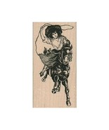 Mounted Rubber Stamp, Cowgirl With Lasso, Cowgirl, Western, Rodeo, Horse... - $9.05