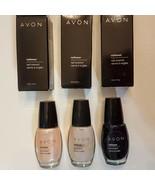Avon NailWear Nail Enamel CHOICE Retired Shades Wink French Tip Lilac Black - $14.99
