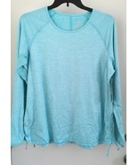 Free Country 1X  Blue Heather Drawstring Ruched Top Free2b NWT - $17.60