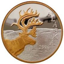 Alaska Mint Official 1996 State Medallion Gold & Silver Medallion Proof ... - $232.64