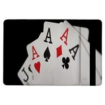 Four of a Kind Aces Poker Casino Cards Flip Case for ipad Air - $17.81