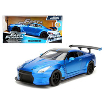 Brians 2009 Nissan GTR R35 Blue Ben Sopra Fast & Furious Movie 1/24 Diecast Mode - $30.87