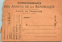 Vtg Postcard World War 1 WW1 Correspondance Des Armees De la Republique UNP - $11.95