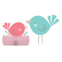 "Hello Baby Girl 11 3/4"" Dia. X 9"" honeycomb Centerpiece, Case of 6 - €35,79 EUR"