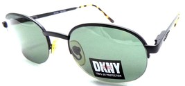 Vintage Donna Karan DKNY Wiley KO1063 Black Tortoise Half Rim Sunglasses... - $18.01